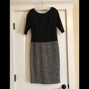 Talbots size 4 black and tweed dress.